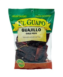 Picture of Guajillo Dried Chile Pepper by El Sol de Mexico Real 2 oz. - Item No. 9658