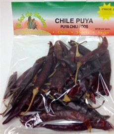 Picture of Chile Puya Dried Chile Pepper by El Sol de Mexico 2 oz. - Item No. 9659