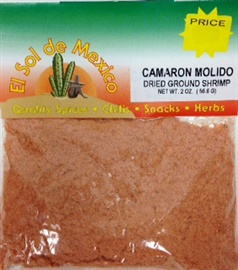 Picture of Ground Dried Shrimp by El Sol de Mexico 1 oz. - Item No. 9668