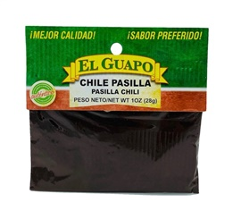 Picture of Ground Pasilla Chili Powder by El Sol de Mexico .80 oz. - Item No. 9674