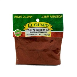 Picture of Ground California Molido Chili (Ground Chili) by El Guapo 2 1/2 oz. - Item No. 9677