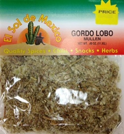 Picture of Gordo Lobo - Mullein Herbs by El Sol de Mexico .40 oz - Item No. 9678