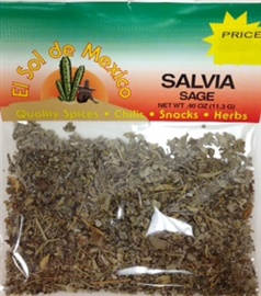 Picture of Salvia - Sage Herb by El Sol de Mexico .40 oz - Item No. 9685