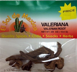 Picture of Valeriana - Valerian Root by El Sol de Mexico 3/8 oz - Item No. 9691
