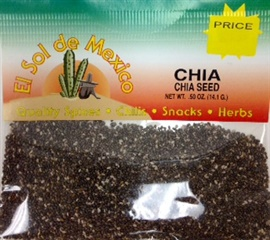 Picture of Chia Seed by El Sol de Mexico .50 oz- Item No.9810