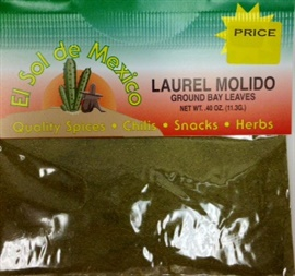 Picture of Bay Leaves Ground - Laurel Molido by El Sol de Mexico .40 oz - Item No. 9824
