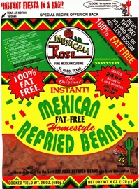 Picture of Mexicali Rose Low Fat Free Refried Pinto Beans - Instant 7 oz (Pack of 3) - Item No. 99643-00002