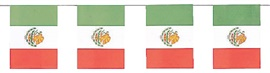 """Picture of Mexican Flag Paper Banner8"""" x 6""""- Item No.ams-12092"""