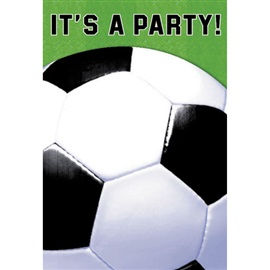Picture of Soccer Fan It's a Party Invitations 8 count - Item No. ams-499709