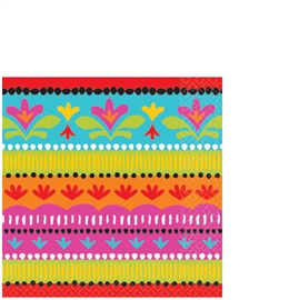 Picture of Fiesta Brights Beverage Napkins Pack of 16- Item No.ams-504415-bn