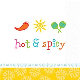 Picture of Hot and Spicy Beverage Napkins Pack of 16 - Item No. ams-509564-bn