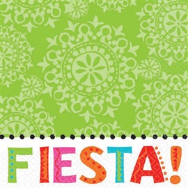 Picture of Fiesta Beverage Napkins Pack of 16 - Item No. ams-509566-bn