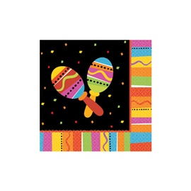 Picture of Fiesta Fun Lunch Napkins Pack of 16 - Item No. ams-519820-ln