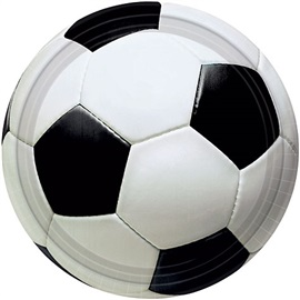 "Picture of Soccer Fan Plates 7"" Pack of 8 - Item No. ams-547040-plt-7"