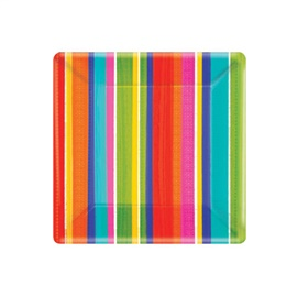 """Picture of Del Sol Impressions Square Plates 7"""" Pack of 8- Item No.ams-549310-plt-7"""