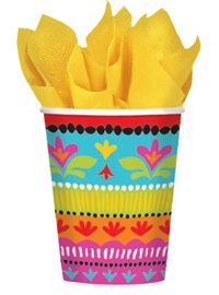 Picture of Fiesta Brights Cups 9 oz Pack of 8 - Item No. ams-584415-cup