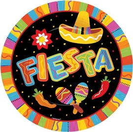"Picture of Fiesta Fun Paper Plates 10 1/2"" Pack of 8 - Item No. ams-599820-plt-10"