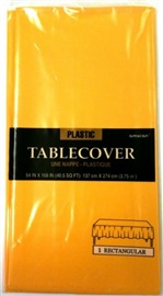 """Picture of Plastic Table Cover yellow sunshine 54"""" x 108""""- Item No.ams-77015-09-tc"""