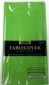 "Picture of Plastic Table Cover Kiwi 54"" x 108""- Item No.ams-77015-53-tc"