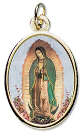 Picture of Our Lady of Guadalupe Epoxy Medal - Full body - Medalla Virgen de Guadalupe- Item No.ds284