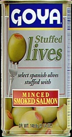 Picture of Goya Manzanilla Olives Stuffed with Salmon 5.25 oz- Item No.goya-1489