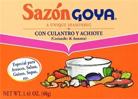 Picture of Goya Sazon Cilantro and Achiote Seasoning 1.41 oz - Item No. goya-3782