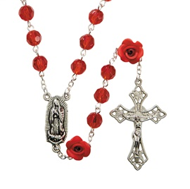 Picture of Our Lady of Guadalupe Cameo Rosary - Item No. gs651