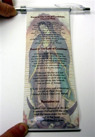 Picture of Our Lady of Guadalupe Pull-out Prayer Pen - Pluma con Oracion - Item No. ls086