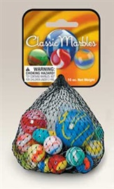 "Picture of Classic Marbles Assortment (Canicas) 6.25""h x 2.75""w x 1.75""d - Item No. marbles-77348"