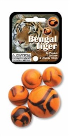 "Picture of Bengal Tiger Marbles Game Net (Canicas) 6.25""h x 2.75""w x 1.5""d - Item No. marbles-77351"