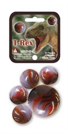 """Picture of T-Rex Marbles Game Net (Canicas) 6.25""""h x 2.75""""w x 1.5""""d- Item No.marbles-77355"""