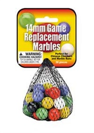 "Picture of 14mm Game Replacement Marbles (Canicas) 5.25""h x 2.75""w x 1.5""d - Item No. marbles-77577"