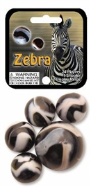 """Picture of Zebra Marbles Game Net (Canicas) 6.25""""h x 2.75""""w x 1.5""""d- Item No.marbles-77737"""