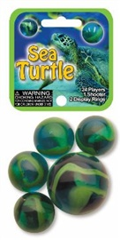 "Picture of Sea Turtle Marbles Game Net (Canicas) 6.25""h x 2.75""w x 1.5""d - Item No. marbles-77744"