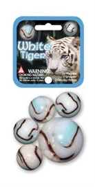 "Picture of White Tiger Marbles Game Net (Canicas) 6.25""h x 2.75""w x 1.5""d - Item No. marbles-77774"