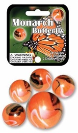 "Picture of Monarch Butterfly Marbles Game Net (Canicas) 6.25""h x 2.75""w x 1.5""d - Item No. marbles-77779"