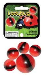 "Picture of Ladybug Marbles Game Net (Canicas) 6.25""h x 2.75""w x 1.5""d - Item No. marbles-77780"