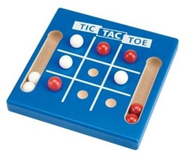 """Picture of Tic Tac Toe Marble Game 5.5""""h x 5.5""""w x .75""""d- Item No.marbles-93635"""