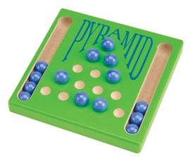 "Picture of Pyramid Solitaire Marble Game 5.5""h x 5.5""w x .75""d - Item No. marbles-93636"