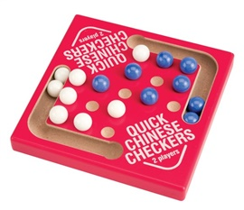 "Picture of Quick Chinese Checkers Marble Game 5.5""h x 5.5""w x .75""d - Item No. marbles-93637"