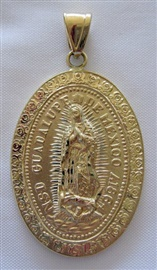 Picture of Medalla de Oro Virgen de Guadalupe - Our Lady of Guadalupe Gold Medal - XLarge  16.3 g - Item No. mee-cg04