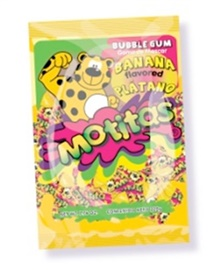 Picture of Motitas Banana Gum - Chicles de Motitas - 70 ct. / piezas - Item No. motitas-banana
