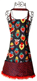 Picture of Corazones (Hearts) Apron - Item No. mp-corazones