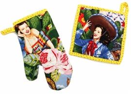 Picture of Hot Calendar Girls Pot Holder and Oven Mitt 2 piece- Item No.mp-ph299-om299