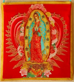 Picture of Virgin of Guadalupe Tote Bag - Item No. mp-vgtote-red