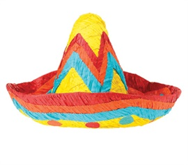 Picture of Sombrero Pinata - Item No. pinata-12446