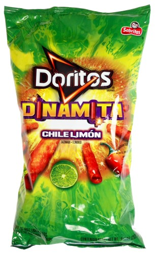 doritos dinamita chile limon rolled favored tortilla chips