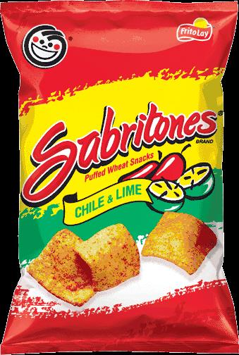 Sabritones Puffed Wheat Snacks Chile Lime Flavored