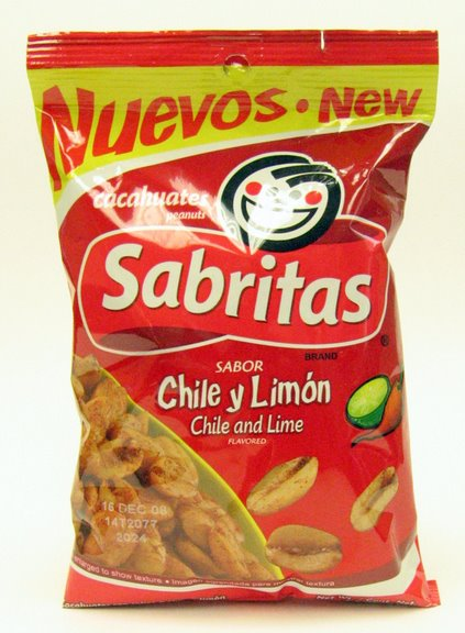 Sabritas Chile and Lime Peanuts - Cacahuates 7 oz (Pack of 3)