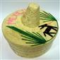 Tortillero de Sombrero Mediano / Palm Tortilla Warmer Basket (Hat Style)